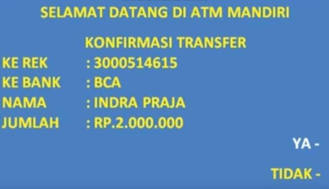 cara mengirim uang bank mandiri lewat ATM, M banking, Internet banking dan sms banking ke BRI atau bank lainnya