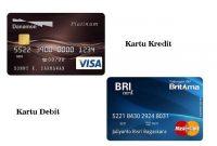Perbedaan Kartu Kredit dan Debit atau ATM