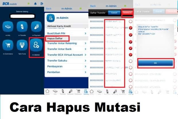 Cara Menghapus Mutasi Rekening BCA via M banking - Panduan ...