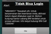 Solusi BNI Mobile banking tidak bisa login