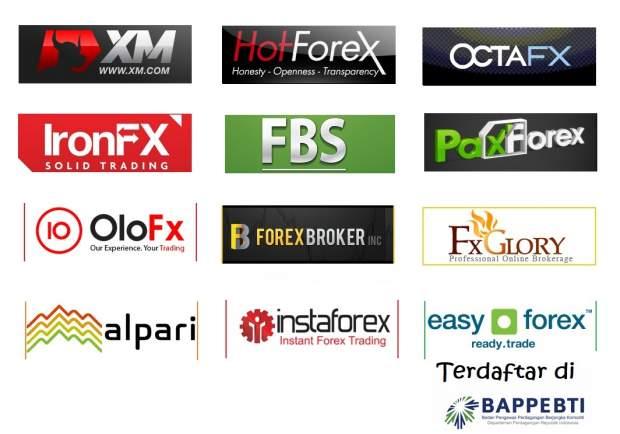daftar broker yang terdaftar di BAPPEBTI