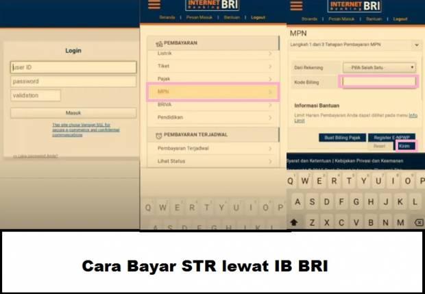 cara membayar STR